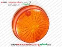 MZ TS 125, 150, 250, 250/1 Arka Sinyal Camı, Yuvarlak - Sarı