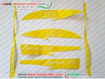 Kanuni MZ 125 Sportstar Etiket Takımı - ORJİNAL