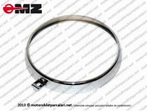 Kanuni MZ 125 Sportstar, 125s Klasik Far Çerçevesi - Nikelajlı