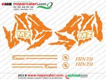 MZ Fun 251, 301 Etiket Takımı