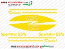MZ Sportstar 251, 301 Etiket Takımı - ORJİNAL