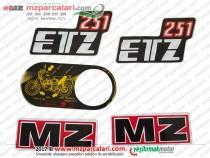 MZ 251 Etiket Takımı - Eski Model