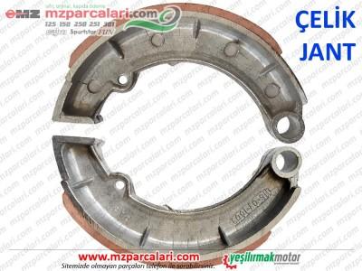 MZ 125, 150 Arka Fren Balatası, Çelik Jant - KIRMIZI