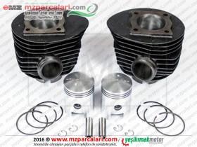 MZ BK 350 Silindir, Piston ve Sekman Seti - Çiftli