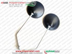 Kanuni MZ 125 Sportstar, 125s Klasik Ayna Takımı, Yuvarlak, Siyah
