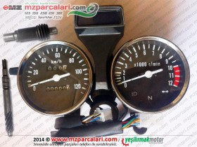Kanuni MZ 125s Klasik Km (Kilometre) Saati Gösterge Komple