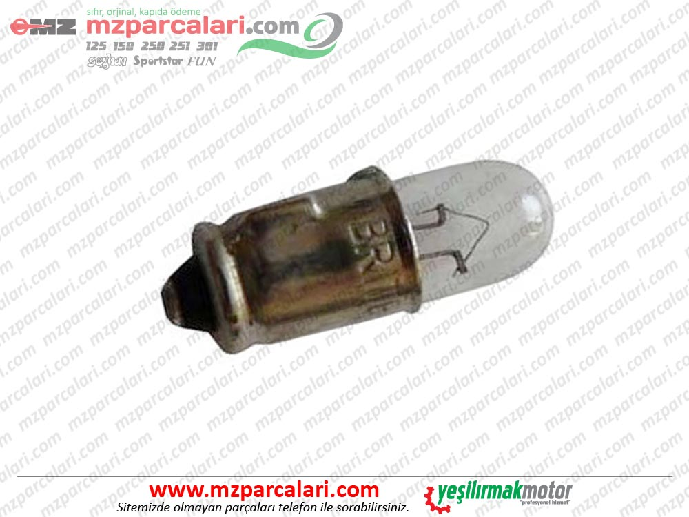 MZ 125, 150, 250, 251, 301 Gösterge Ampulü - 6V
