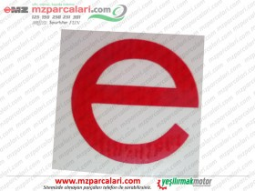 MZ 250 Electronic Sticker Red