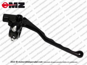 MZ ETZ 125, 150, 250, 251, 301 Front Brake Lever With Bracket, Drum Brake - Old Model