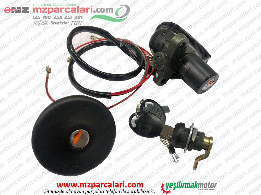 MZ 251, 301 İgnition Lock and Tank Cover Set