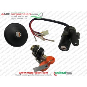 MZ 125, Seyhan 251, 301 İgnition Lock and Tank Cover Set