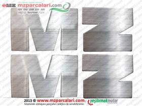 MZ 125, 150, 250, 251, 301 Metal M ve Z Harf Seti - ORJİNAL