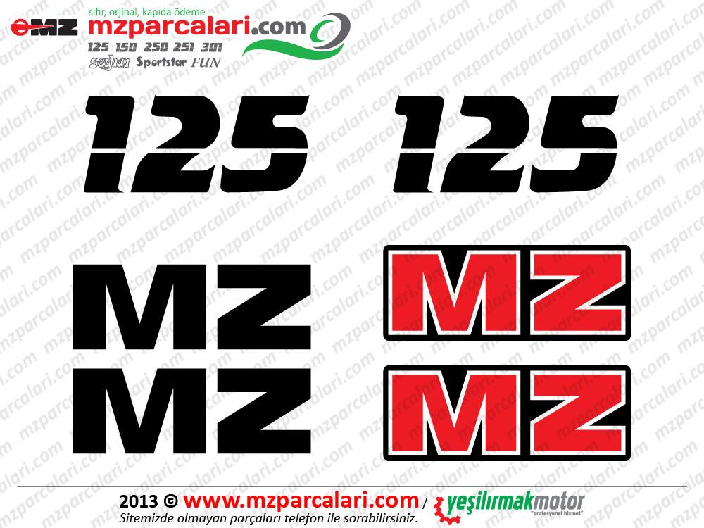 MZ 125 Etiket Takımı