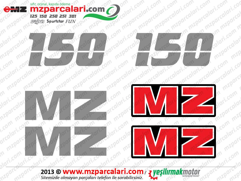 MZ 150 Etiket Takımı