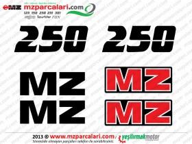 MZ 250 Etiket Takımı