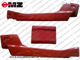 Kanuni MZ 125 Sportstar Sele Altı Sağ Sol ve Stop Üst Plastiği FİBER BOYASIZ ASTARLI