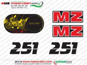 MZ ETZ 251 Sticker Set