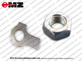 MZ ETZ 125, 150 Clutch Hub Washer and Nut