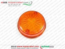 MZ 125, 150, 250, 251, 301 Arka Sinyal Camı (Oval) - Sarı