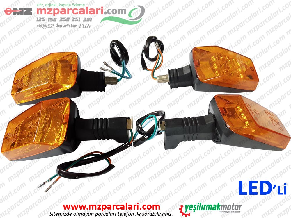 MZ 125, 150, 250, 251, 301 Arka ve Ön Sinyal Takımı - PAGANİ - LEDLİ