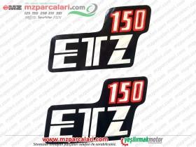 MZ  150 Yan Kapak Etiket Takımı