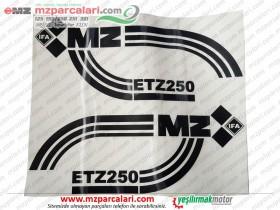 MZ 250 Etiket Takımı, Siyah, EM