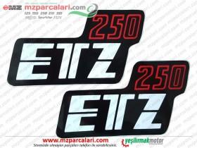 MZ ETZ 250 Yan Kapak Etiket Takımı