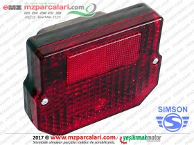 Simson Arka Stop Lambası Komple, Kare, Yan Sanayi - SD50, SR50, SR80