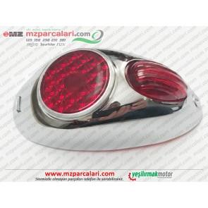 Simson Arka Stop Lambası Komple - S51, S53, SD50, SR50, SR80 - UZUN TİP
