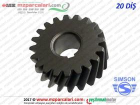 Simson Debriyaj Küçük Dişlisi, 1. Piyon Dişli - S51, S53, SD50, SR50, SR80