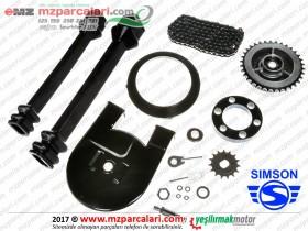 Simson Zincir, Körük, Bakalit ve Dişli Seti - SD50, SR50, SR80